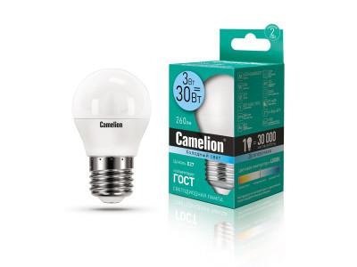 Camelion ეკონომიური LED ნათურა Energy Saving LED Bulbs - 3W/Coolight/E27 LED3-G45/845/E27
